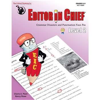 editor in chief lv 2 ctb9711 critical thinking press editing skills k12 school supplies