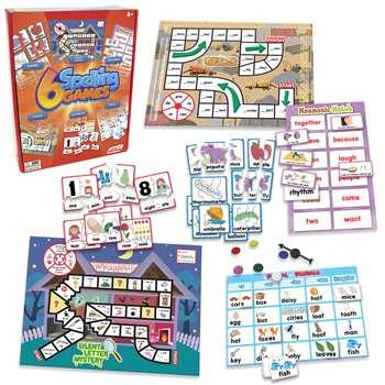 6 spelling games jrl408 junior learning language arts