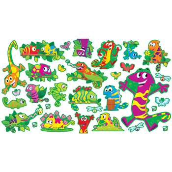 Cool chameleons bulletin board set by scholastic books for K decorations trading