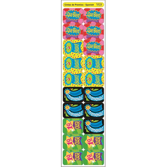 Cheap Spanish Classroom Decorations ~ Applause stickers spanish ribbons by trend enterprises