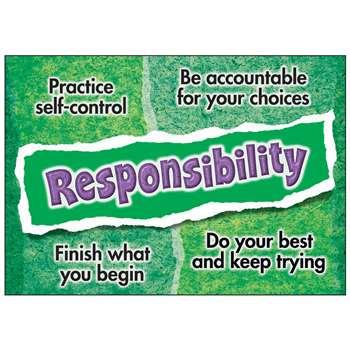 Responsibility Poster by Trend Enterprises: Social Skills ...