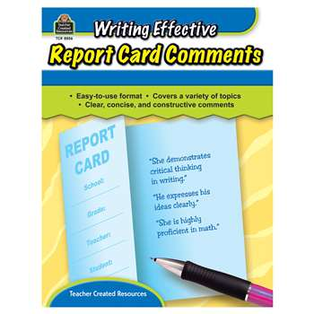 report card comments for writing skills Tips for writing positive report card comments that give parents and future teachers an accurate picture of each student uses higher level thinking strategies to apply learned skills to new situations has a passion for [subject area ] that shows through the resolve he puts into every single assignment works very well with.