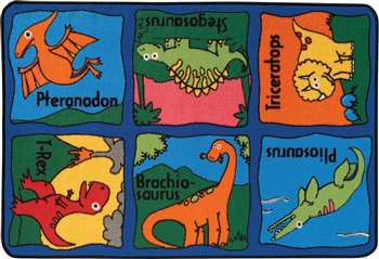 Dino Mite Rug Rectangle 3 X4 6 Car3644 Carpets For Kids Play Carpets K12 School Supplies