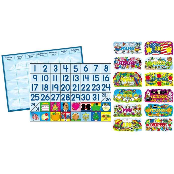 bulletin board set year round calendar  u0026 accessories by