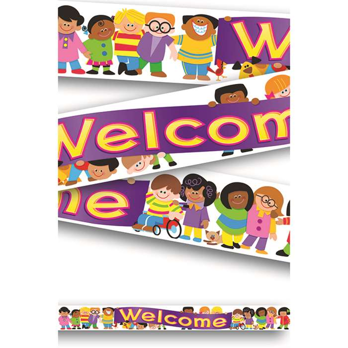 Banner Welcome Trend Kids 10ft Horizontal By Trend