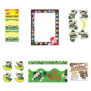 Monkey Mischief Room Decor Set T Mmrdc Trend Enterprises Accents K12 School Supplies Teacher Supplies